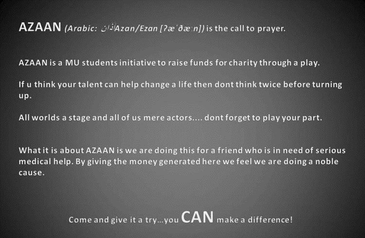AZAAN : For a cause Slide118