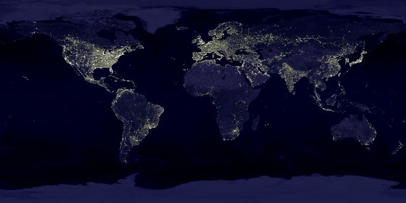 ARTIFICIAL LIGHTS IN THE WORLD Earth_10