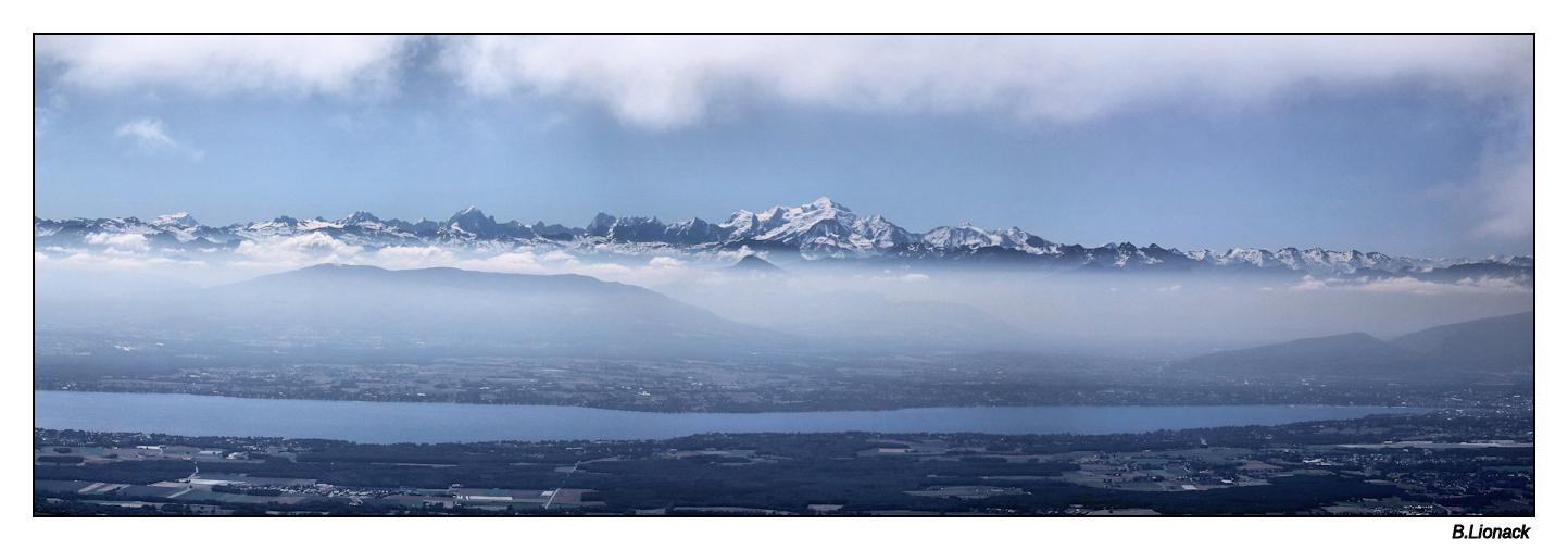 La chaîne du Mt Blanc vue du Jura Pano_m12