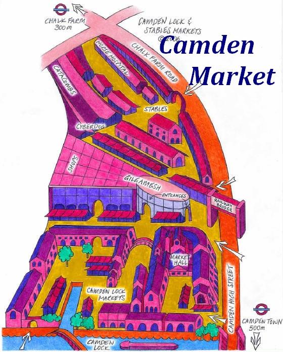 Mon voyage en Grande Bretagne - 9 - Londres , Camden Market Camden10