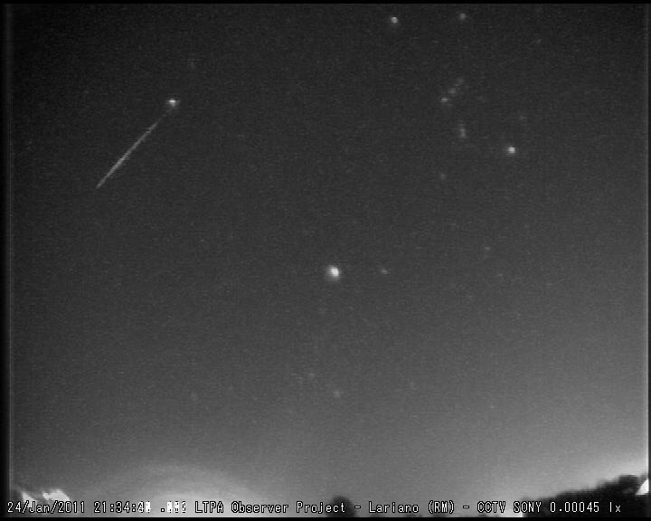 SUPERBOLIDE ripreso il 12 Febbraio 2011 - Lariano (RM) M2011023