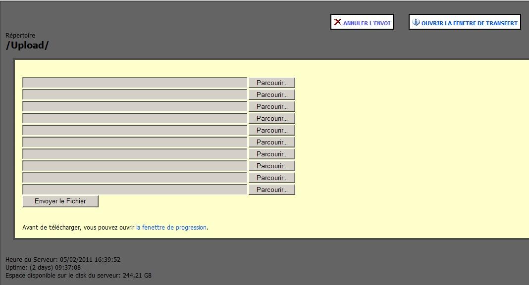Comment envoyer un fichier sur le serveur Http Frex [dispo ICI] Http410
