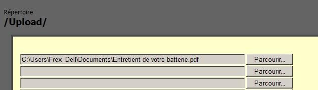 Comment envoyer un fichier sur le serveur Http Frex [dispo ICI] Http610