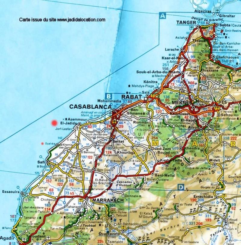 Carte Casablanca beni mellal marrakech Mimoun10