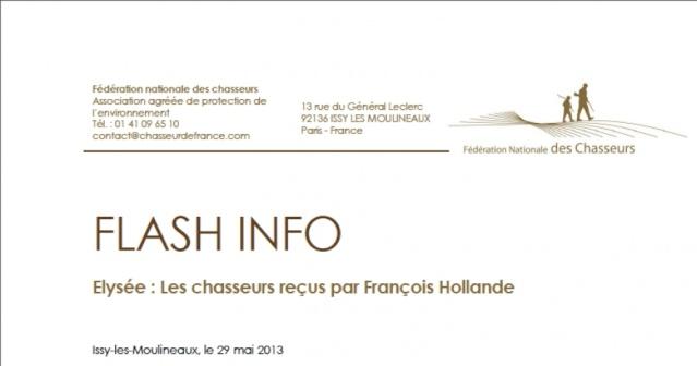 Elysée : Les chasseurs reçus par François Hollande  26fdc810