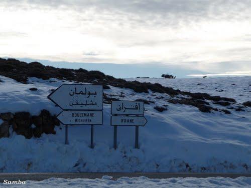 طريق الثلوج  في المغرب          La route de la neige au Maroc  Mimoun12