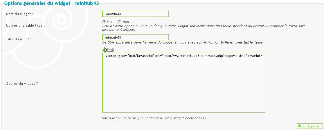 Comment afficher un flux RSS dans un Widget 20110224