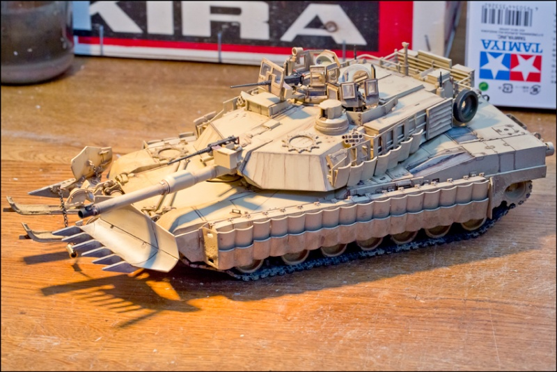 ABRAMS M1A2 TUSK II with MINE PLOW [Tamiya, 1/35] Edan7011