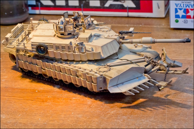 ABRAMS M1A2 TUSK II with MINE PLOW [Tamiya, 1/35] Edan7012