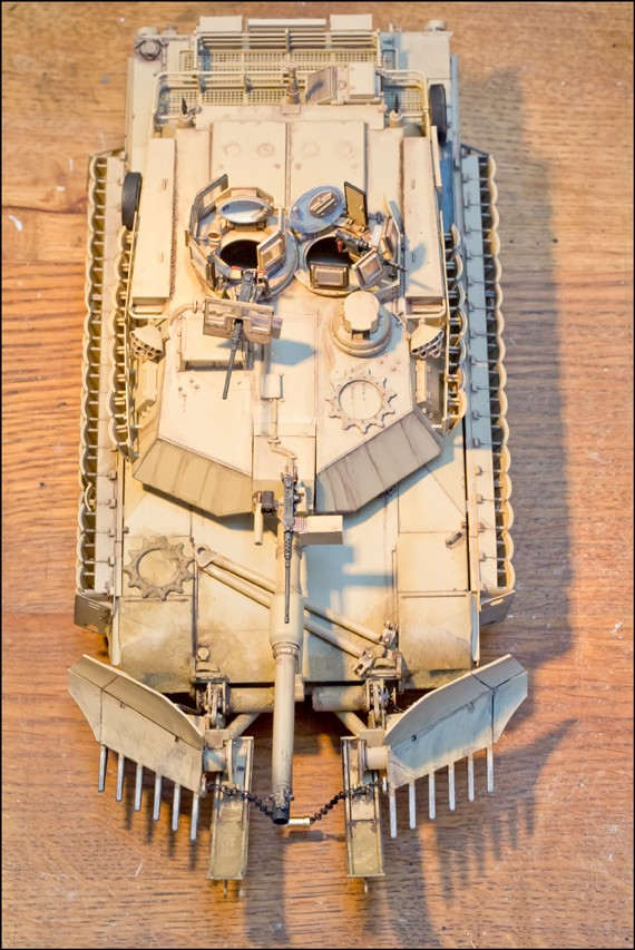 ABRAMS M1A2 TUSK II with MINE PLOW [Tamiya, 1/35] Edan7013