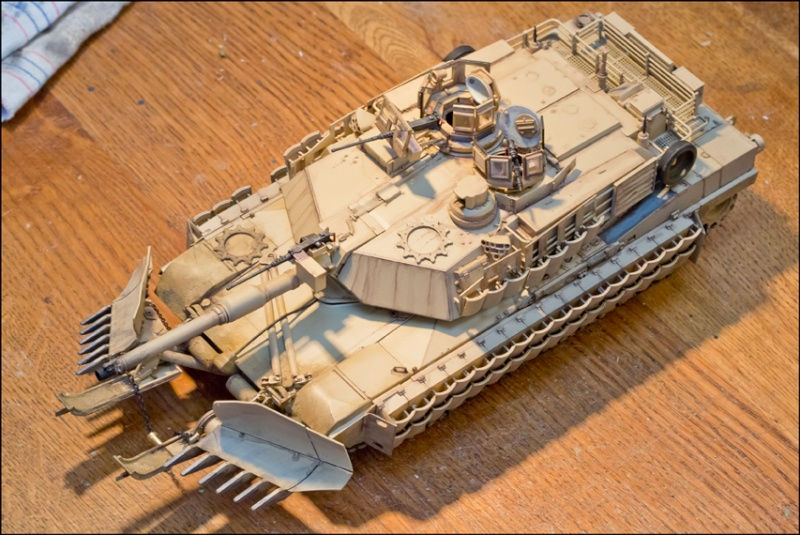 ABRAMS M1A2 TUSK II with MINE PLOW [Tamiya, 1/35] Edan7016