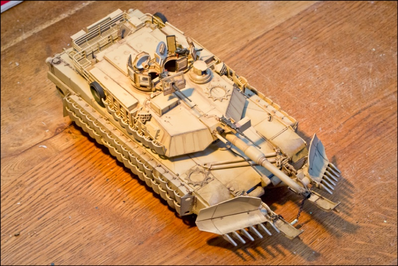 ABRAMS M1A2 TUSK II with MINE PLOW [Tamiya, 1/35] Edan7017