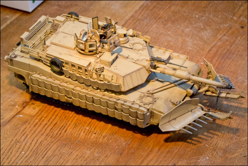 ABRAMS M1A2 TUSK II with MINE PLOW [Tamiya, 1/35] Edan7018
