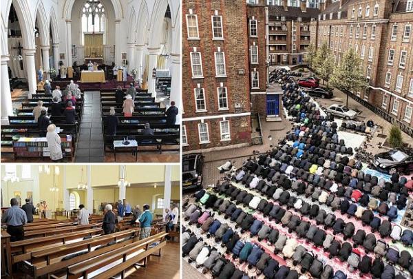 في بريطانيا.. النصرانية أصبحت ماضياً والإسلام دين المستقبل 17126810