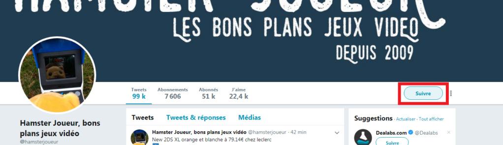 [Tuto twitter] comment ne plus louper les précos/promos/bons plans Suivre10