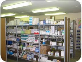 Le couloir et la pharmacie Pharma10