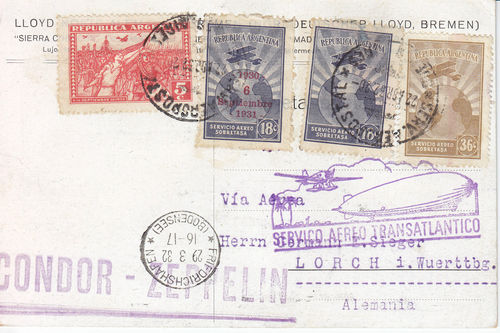 Südamerikafahrten LZ 127 1932 Arg10