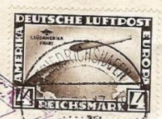 Südamerikafahrt 1930, Post nach Sevilla Blitz10