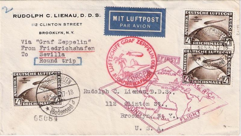 Südamerikafahrt 1930, Post nach Sevilla Scanne24