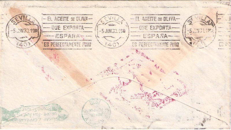 Südamerikafahrt 1930, Post nach Sevilla Scanne25