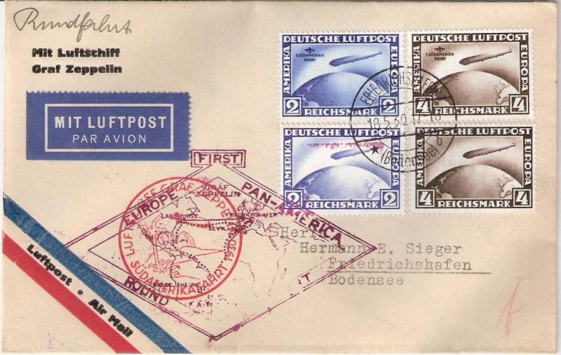 """Südamerikafahrt 1930 (Rundfahrt-) Post nach Friedrichshafen"""" - Seite 4 Sieger21"""