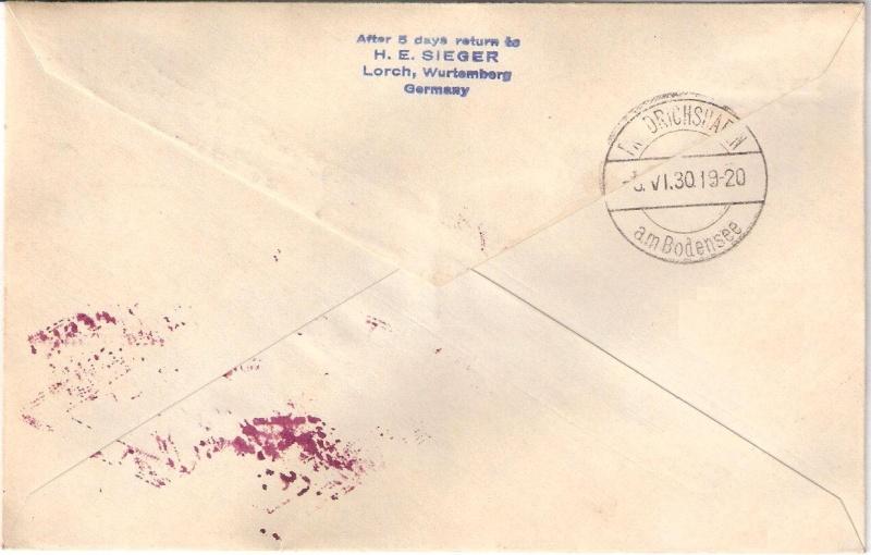 """Südamerikafahrt 1930 (Rundfahrt-) Post nach Friedrichshafen"""" - Seite 4 Sieger22"""