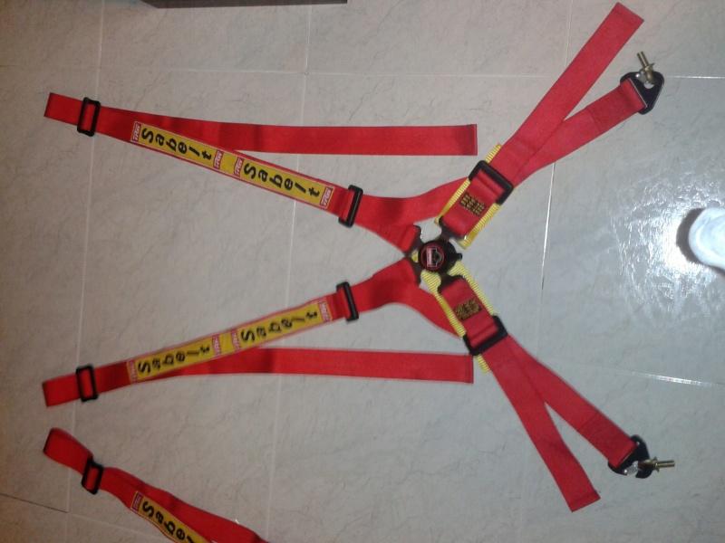 Vendo coppia cinture Sabelt 4 punti rosse 2012-111
