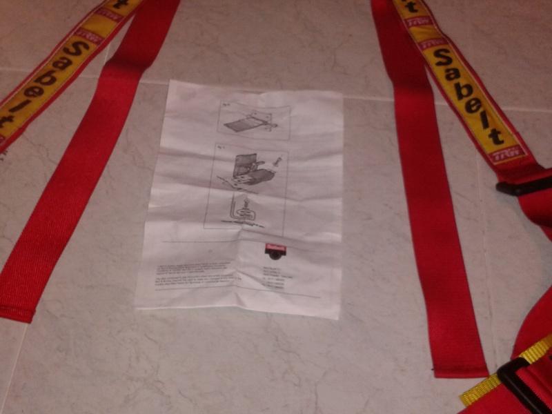 Vendo coppia cinture Sabelt 4 punti rosse 2012-112