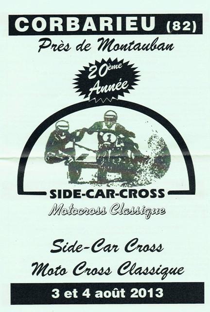 Calendrier 2013 moto et side car cross vintage Cci05010