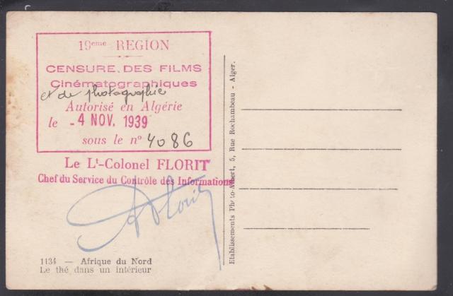 Le contrôle des informations - Censures de la Presse et de la Publication. (Algerie 1939) _1000710