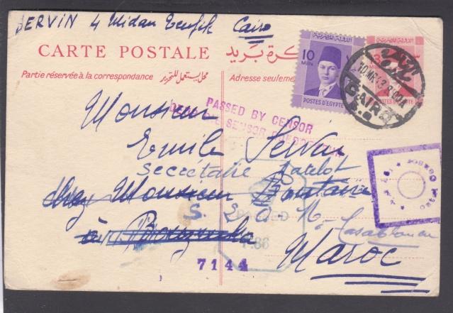 Route postale directe Egypte-Maroc déviée en novembre 1942/ mars 1943. _10_10