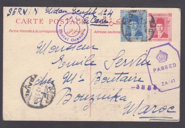 Route postale directe Egypte-Maroc déviée en novembre 1942/ mars 1943. _11_10