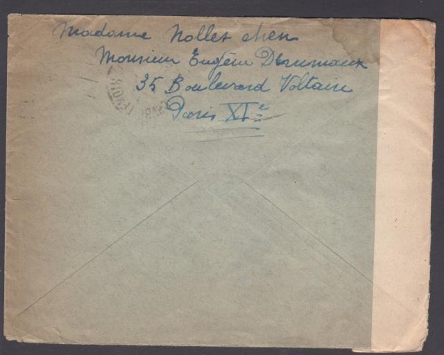 Lettre de Paris pour un moniteur de l'école de pilotage de l'Armée Belge en campagne. _2_00011