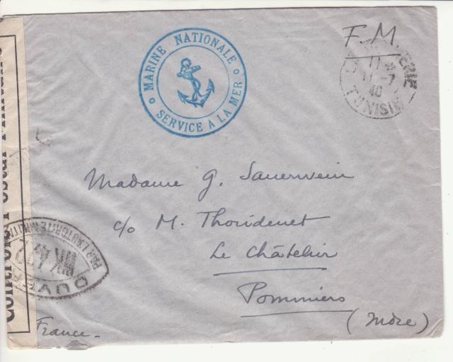 """Lettre de """"La Pêcherie"""" -Bizerte du 11.07.1940. _2_10"""