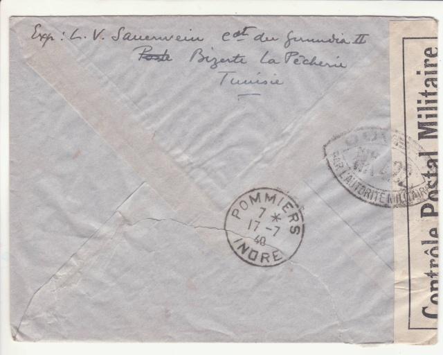 """Lettre de """"La Pêcherie"""" -Bizerte du 11.07.1940. _3_10"""