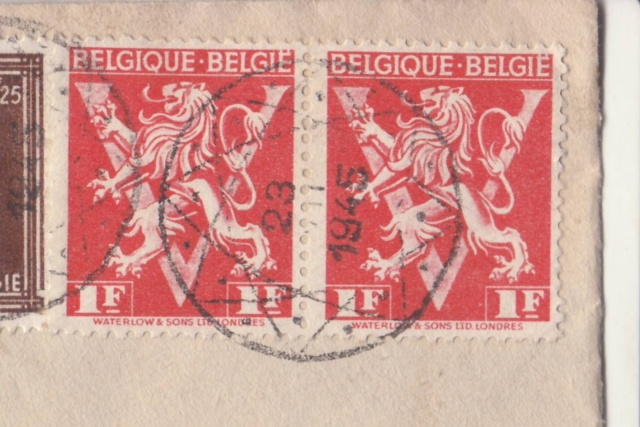 Curieux cachet postal Belge de 1945. _3_11