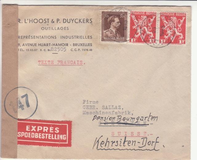 Curieux cachet postal Belge de 1945. _4_11