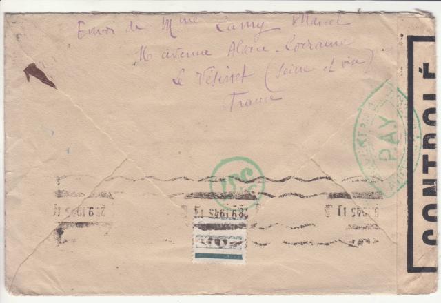 Lettre de Paris via Canada pour la Bulgarie. _5_00010