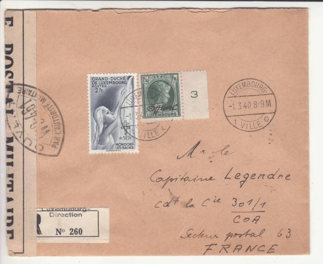 Lettre destinée au Capitaine de la Cie 301/1 COA Secteur postal 63. _5_00012