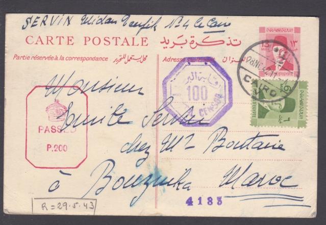 Route postale directe Egypte-Maroc déviée en novembre 1942/ mars 1943. _9_00010