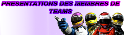 Présentations de membres de Teams