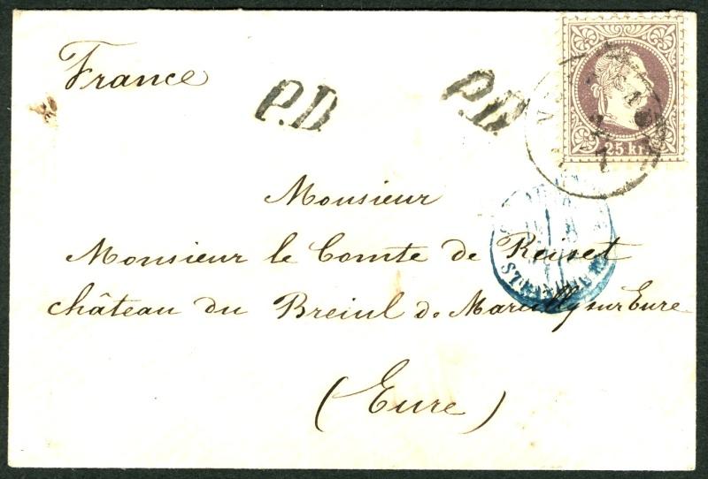 Freimarken-Ausgabe 1867 : Kopfbildnis Kaiser Franz Joseph I - Seite 2 Auslan10