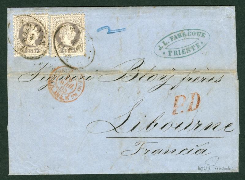 Freimarken-Ausgabe 1867 : Kopfbildnis Kaiser Franz Joseph I - Seite 2 Auslan14