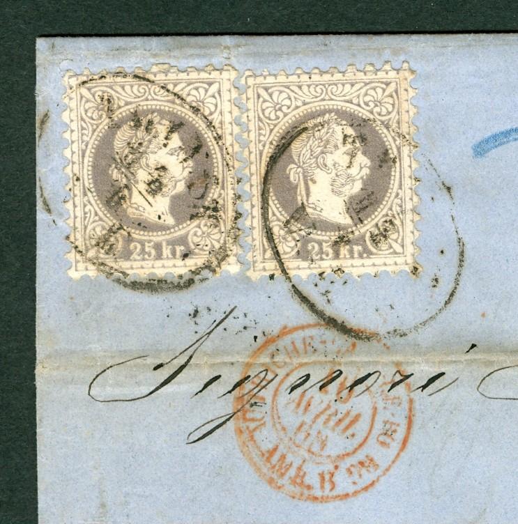 Freimarken-Ausgabe 1867 : Kopfbildnis Kaiser Franz Joseph I - Seite 2 Auslan15
