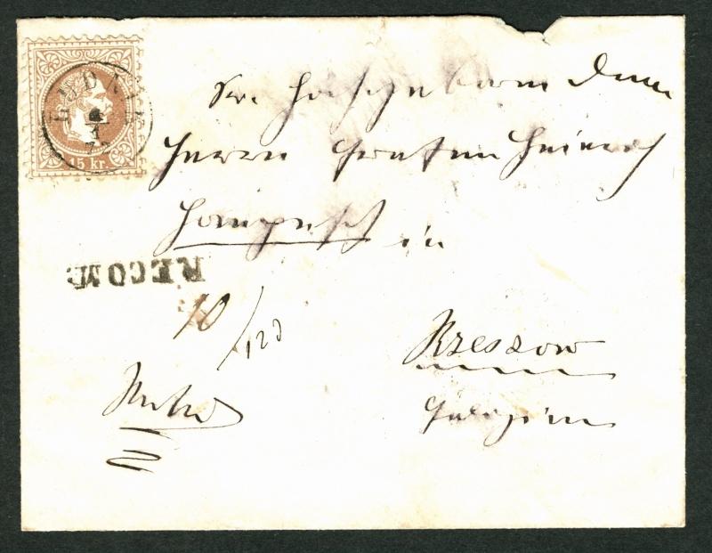 Freimarken-Ausgabe 1867 : Kopfbildnis Kaiser Franz Joseph I - Seite 2 Fernbr10
