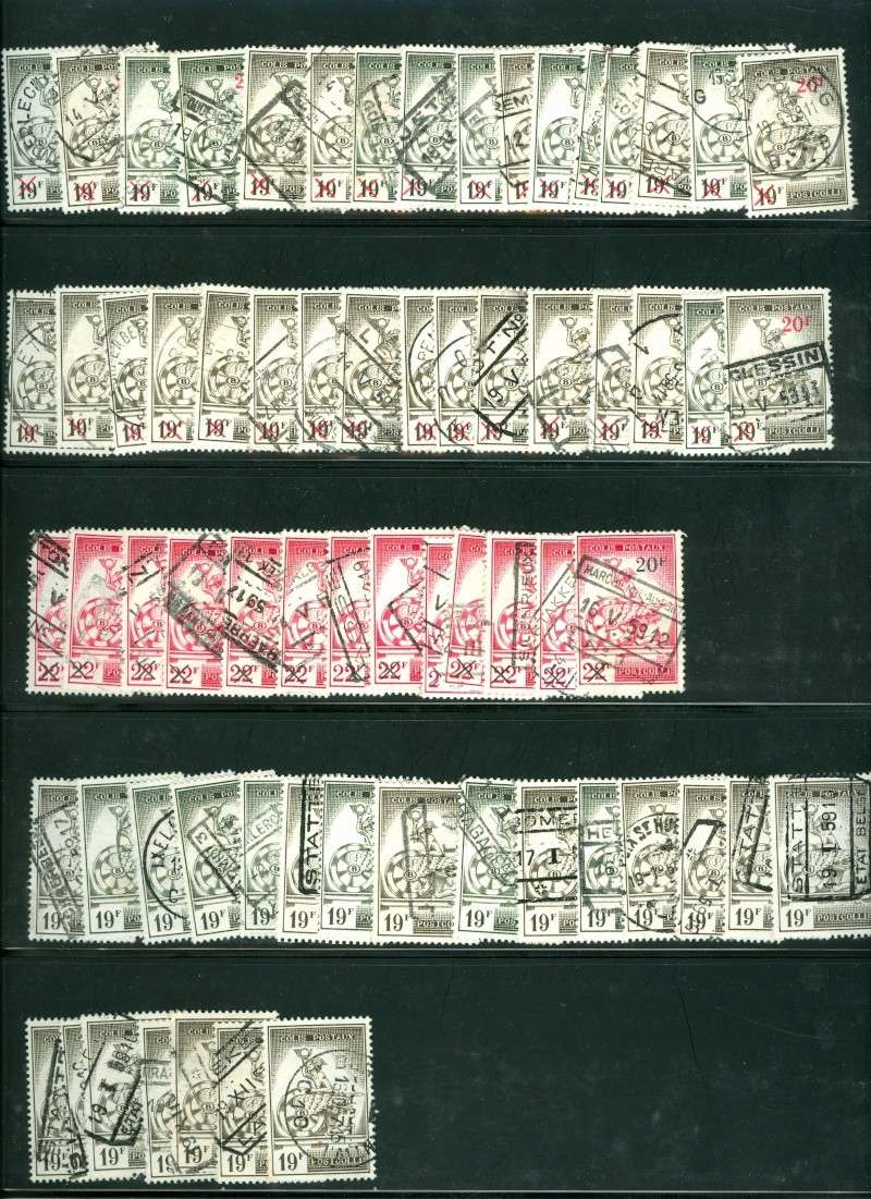 Bahnpostmarken aus Belgien Pakket10