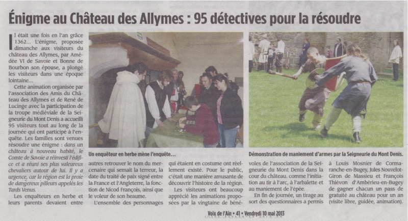 Énigme au château des Allymes Articl11