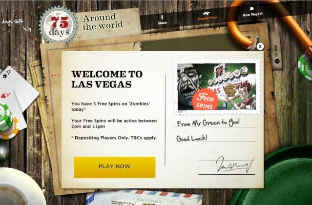 Mr Green 5 Free Spins - Around The World In 80 Days - 18.06.2013 Mrgree12