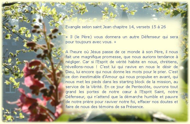 Dimanche 19 mai 2013 fête de la Pentecôte Solennité du Seigneur Dimanc10