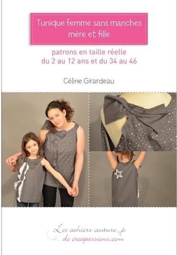 TUNIQUE FEMME SANS MANCHES MERE ET FILLE de Céline Girardeau Tuniqu10